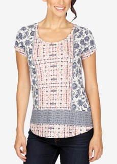 Lucky Brand Printed High-Low T-Shirt