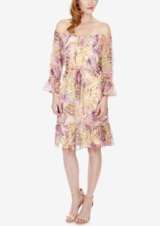 Lucky Brand Printed Off-The-Shoulder Dress