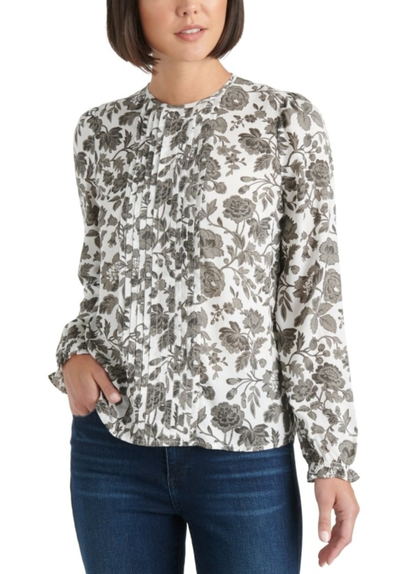 Lucky Brand Printed Pleated Top