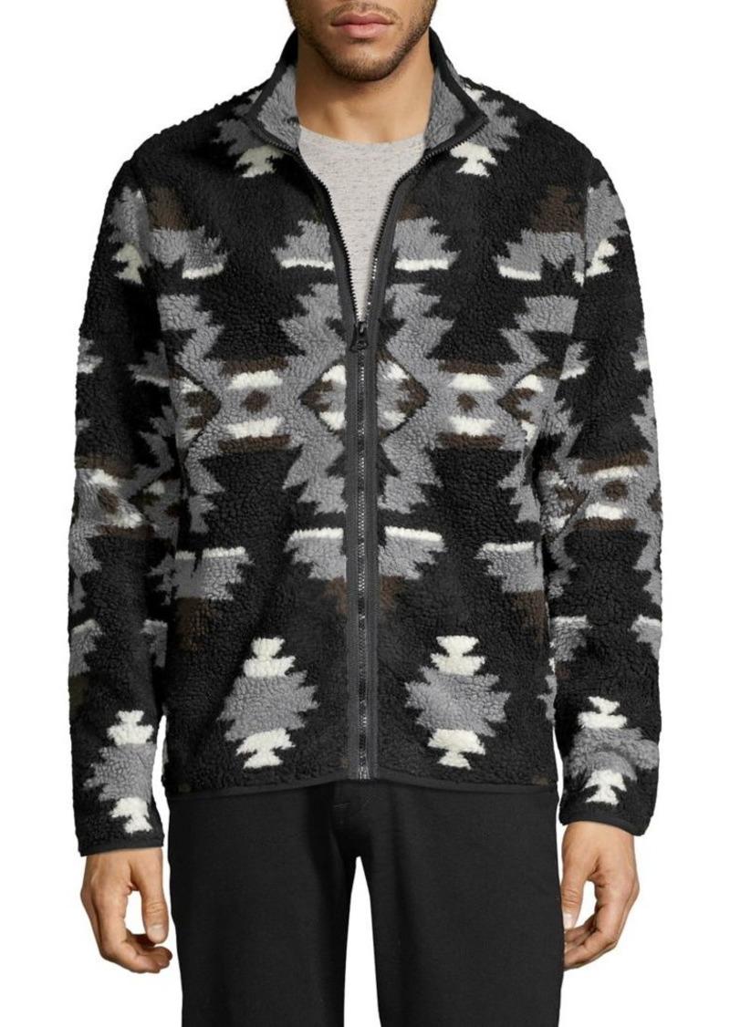 Lucky Brand Printed Plush Jacket