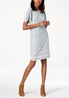 Lucky Brand Printed Ruffle Dress