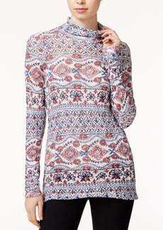 Lucky Brand Printed Turtleneck Top