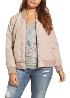 Lucky Brand Quilted Bomber Jacket (Plus Size)