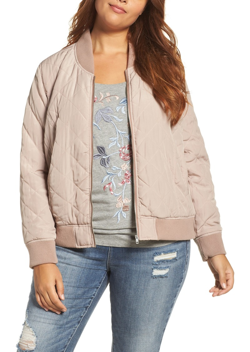 370abfe06 Quilted Bomber Jacket (Plus Size)