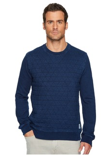Lucky Brand Quilted Crew Neck Sweatshirt