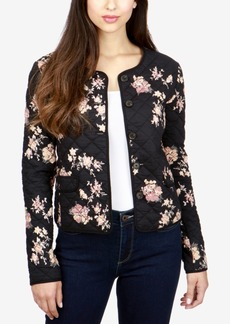 Lucky Brand Quilted Floral-Print Jacket