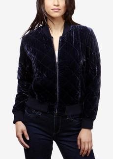 Lucky Brand Quilted Velvet Bomber Jacket