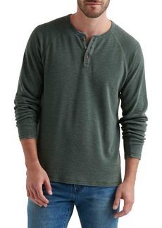 Lucky Brand Raglan-Sleeve Burnout Henley