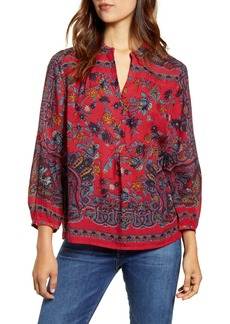 Lucky Brand Rami Peasant Top
