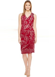 Lucky Brand Red Batik Print Dress