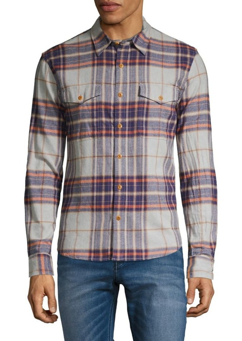 Lucky Brand Redwood Plaid Flannel Workwear Shirt