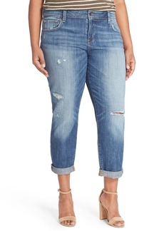 Lucky Brand Reese Distressed Boyfriend Jeans (Northridge Park) (Plus Size)