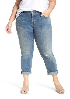 Lucky Brand Reese Distressed Stretch Boyfriend Jeans (Plus Size)
