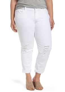 Lucky Brand Reese Ripped Boyfriend Jeans (Rockville) (Plus Size)
