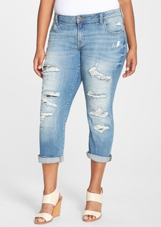 Lucky Brand 'Reese' Ripped Boyfriend Jeans (San Marcos) (Plus Size)