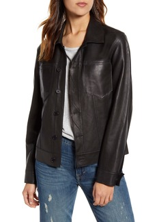 Lucky Brand Reversible Suede Trucker Jacket