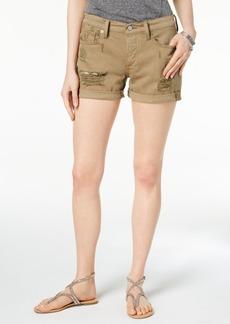 Lucky Brand Ripped Cotton Denim Boyfriend Shorts