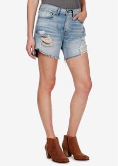 Lucky Brand Ripped Denim Boyfriend Shorts