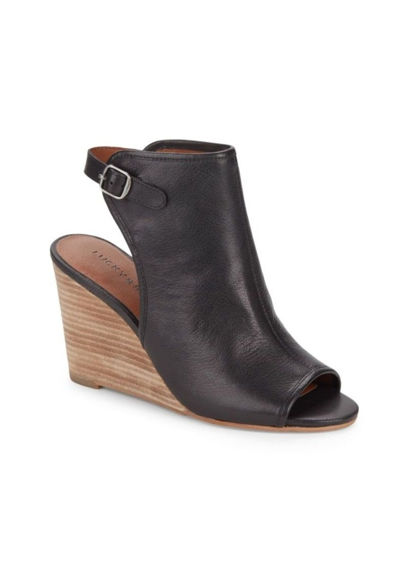 ea58f0db2e9 On Sale today! Lucky Brand Lucky Brand Risza Leather Wedge Mules