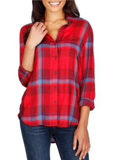 LUCKY BRAND Rolled Up Plaid Shirt