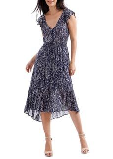 Lucky Brand Ruffle Graphic Dress