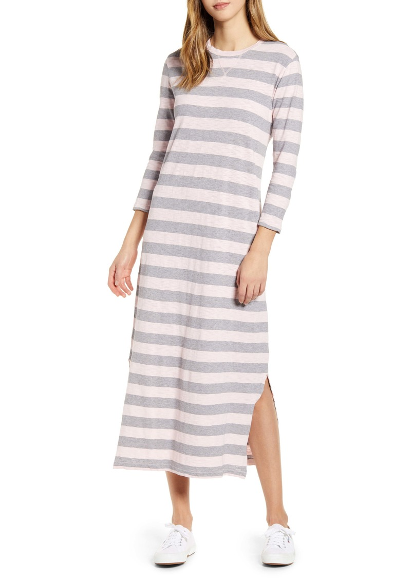 Lucky Brand Rugby Stripe Long Sleeve Maxi Dress