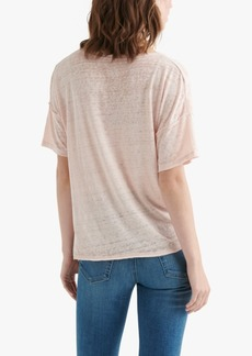 Lucky Brand Seamed Burnout T-Shirt