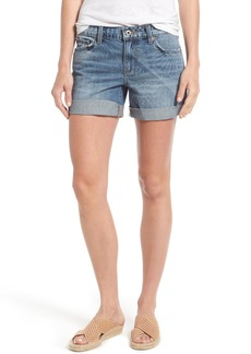 Lucky Brand Shibori Print Roll Cuff Denim Shorts