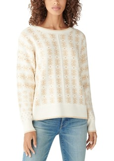 Lucky Brand Shine Fair Isle Pullover Sweater