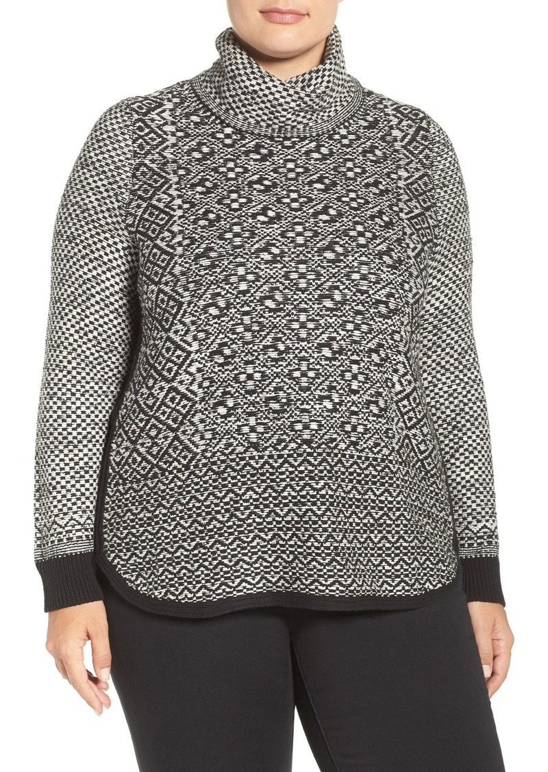 Lucky Brand Side Zip Turtleneck Sweater (Plus Size)