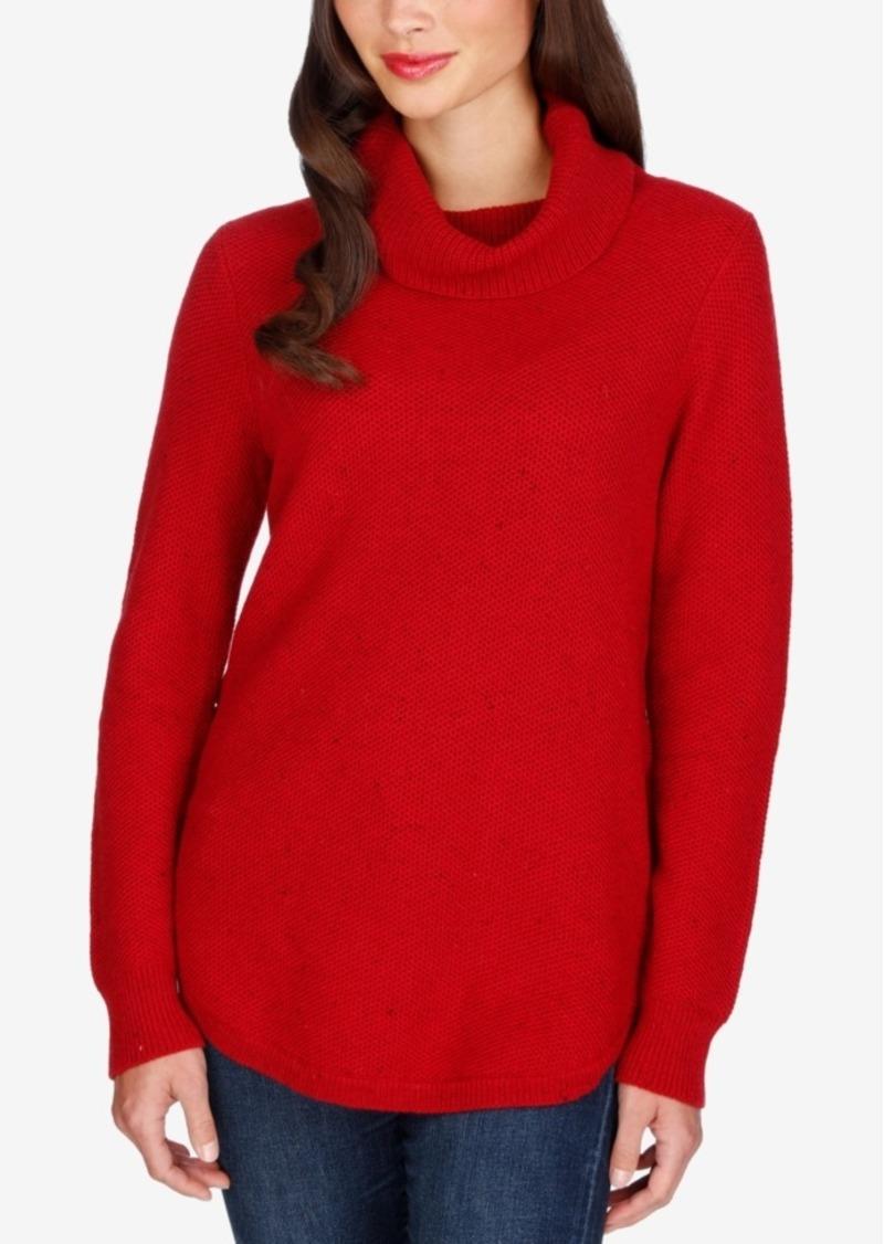 Lucky Brand Side-Zipper Turtleneck Sweater