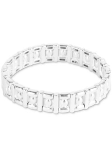Lucky Brand Silver-Tone Geometric Stretch Bracelet