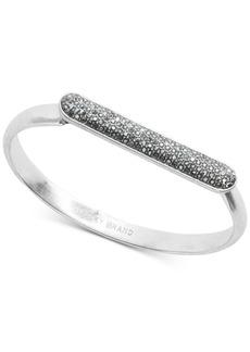Lucky Brand Silver-Tone Pave Bar Bangle Bracelet
