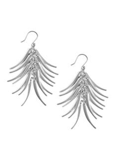 Lucky Brand Silvertone Petal Fan Earrings