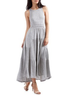 Lucky Brand Sleeveless Ruched Maxi Dress