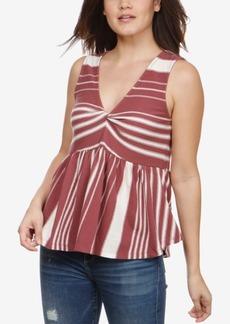 Lucky Brand Sleeveless Striped Cotton Top