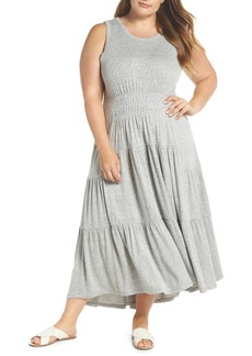 Lucky Brand Smocked Tank Dress (Plus Size)