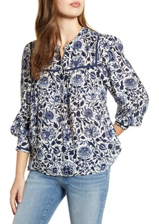 Lucky Brand Sophie Print Popover Top