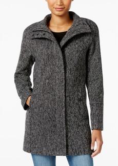 Lucky Brand Stand-Collar Asymmetrical Walker Coat