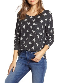 Lucky Brand Star Print Cloud Jersey Long Sleeve Top
