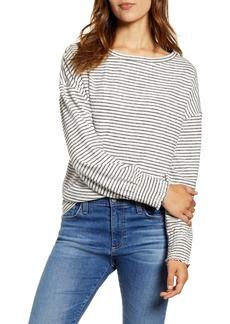 Lucky Brand Stripe Cloud Jersey Top