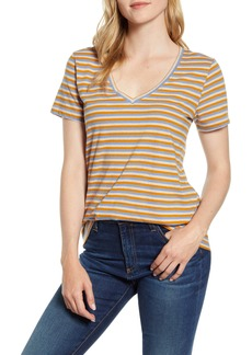 Lucky Brand Stripe Cotton Pocket Tee