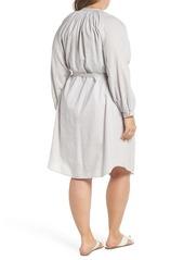 38794673547 Lucky Brand Lucky Brand Stripe Peasant Dress (Plus Size)