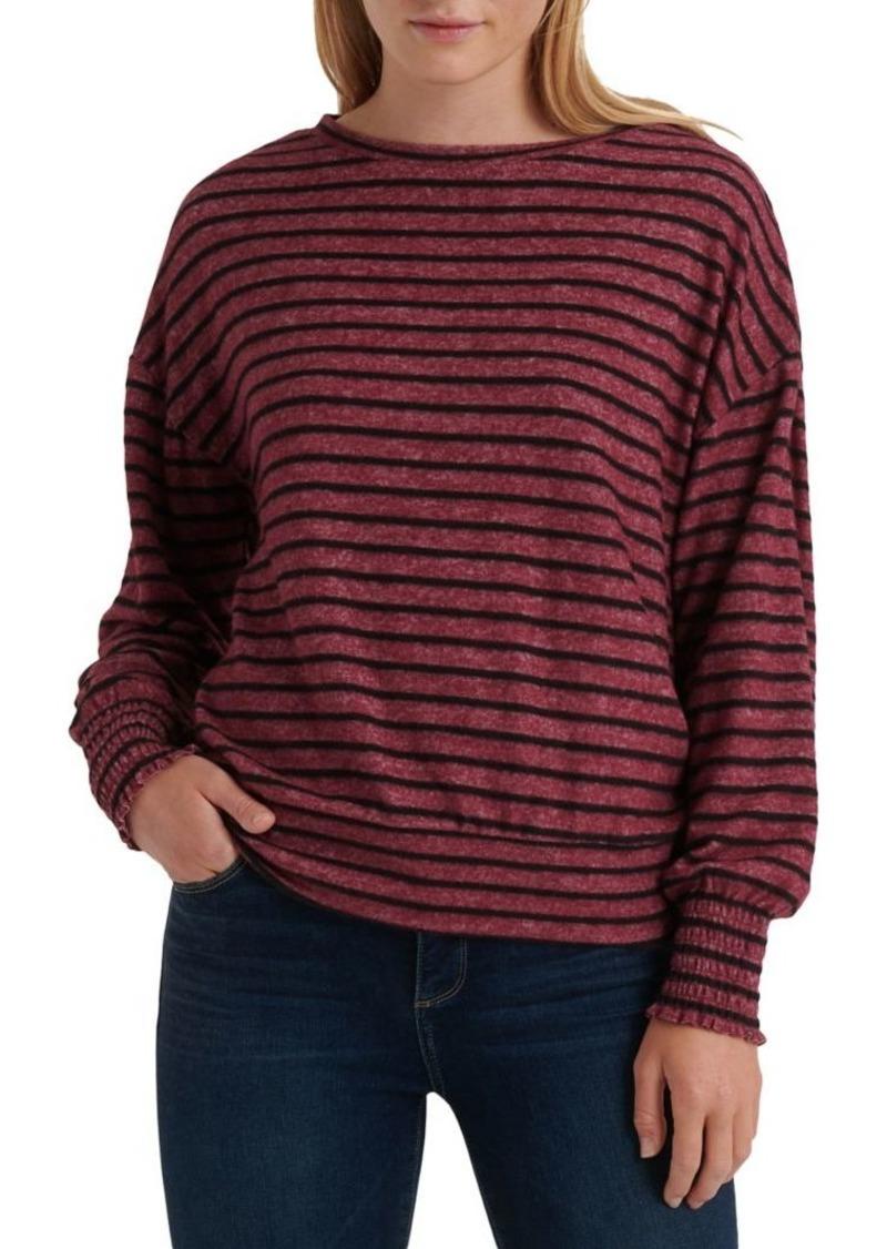 Lucky Brand Stripe Smocked Top
