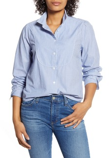Lucky Brand Stripe Tuxedo Bib Shirt