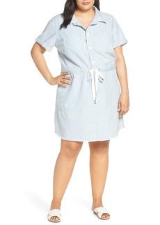 Lucky Brand Stripe Utility Dress (Plus Size)