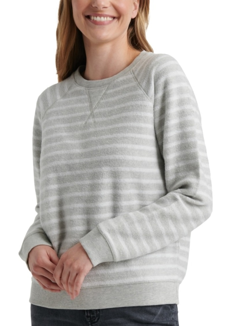 Lucky Brand Striped Brushed Sweatshirt