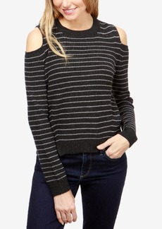 Lucky Brand Striped Cold-Shoulder Sweater