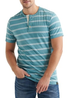 Lucky Brand Striped Cotton Blend Henley