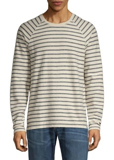 Lucky Brand Striped Cotton-Blend Long-Sleeve Tee